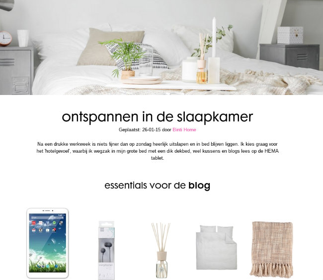 hema blog ontspannen essentials