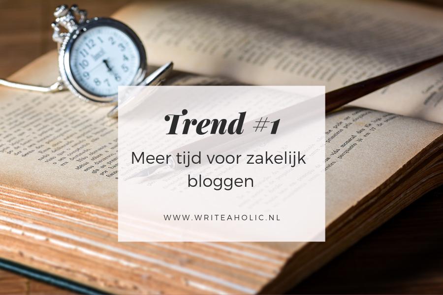 Trends in zakelijk bloggen - meer tijd voor het schrijven van iedere blog